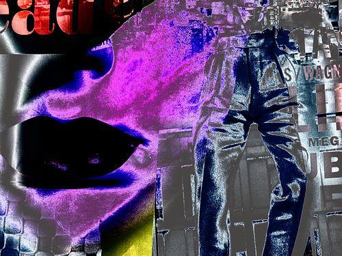Metallic pants van Gabi Hampe