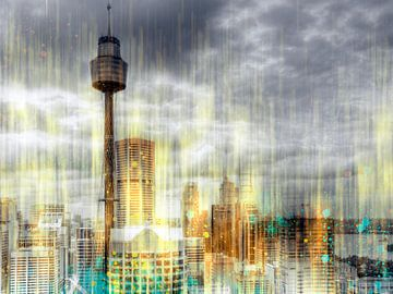 City-Art SYDNEY Rainfall von Melanie Viola
