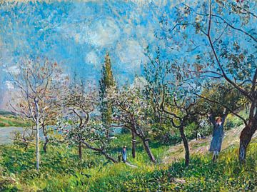 Boomgaard in het voorjaar, Alfred Sisley