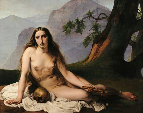 Maria Magdalena als kluizenaar, Francesco Hayez