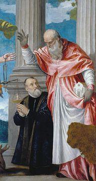 St Jerome en een Donor, Paolo Veronese