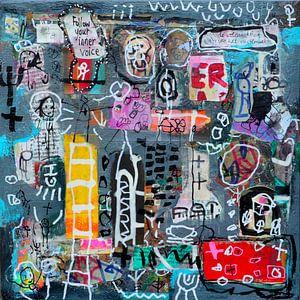 """Collage """"Luister naar je innerlijke stem"""" van Ina Wuite"""