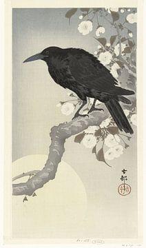 Corbeau à la pleine lune, Ohara Koson