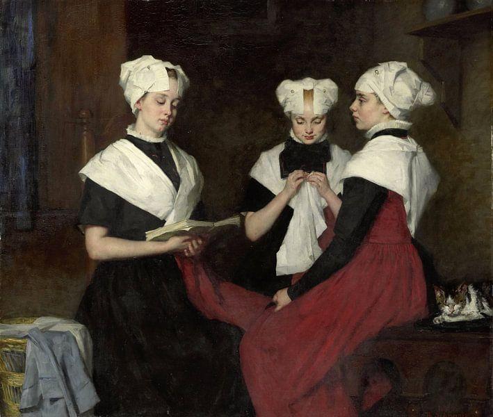 Drie meisjes uit het Amsterdamse Burgerweeshuis, Thérèse Schwartze van Meesterlijcke Meesters