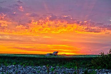 Lichtspiele beim Sonnenaufgang Brombachsee von Roith Fotografie