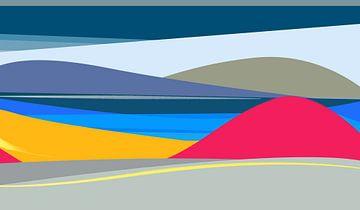 landschap zee en bergen van Nicole Roozendaal