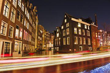 Segeln an einem Abend in Amsterdam von Hannon Queiroz