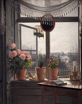 Blick aus dem Künstlerfenster, Martinus Rørbye