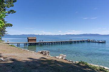 Verlaten pier aan South Lake Tahoe van Reis Genie