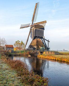 Wippenmühle im Alblasserwaard von Cor de Bruijn