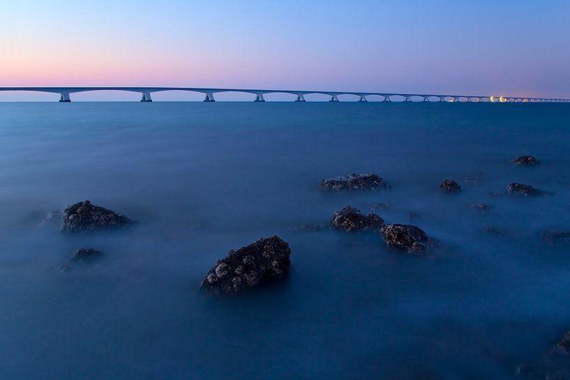 Zélande Pont au crépuscule sur Anton de Zeeuw
