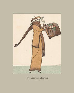Dire au revoir à l'amour - Vintage, historische mode prent art deco, jugendstil, boho, chic van NOONY