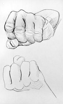 Zeichnen der Hände. von Therese Brals