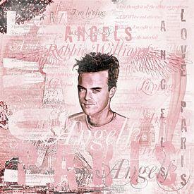 Robbie Angels Vintage Design In Pink von Gitta Gläser