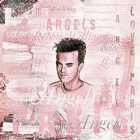 Robbie Angels Vintage Design In Pink van Gitta Gläser