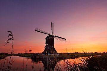 Zonsondergang bij de molen van Halma Fotografie
