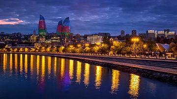 Flammentürme, Baku, Aserbaidschan von Adelheid Smitt