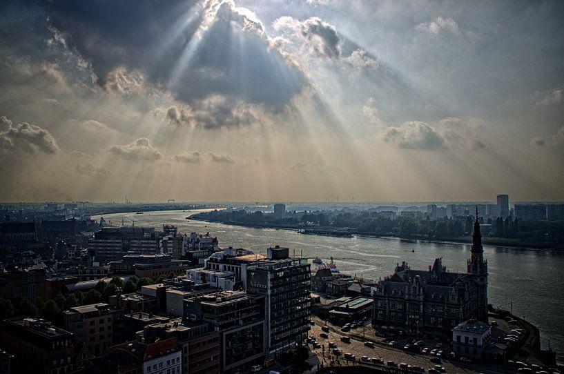 Westerschelde Antwerpen vanaf MAS I  van Watze D. de Haan