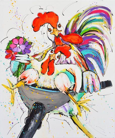 Funny chickens van Love Liz