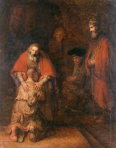 Terugkeer van de Verloren Zoon, Rembrandt van Rijn van Rembrandt van Rijn