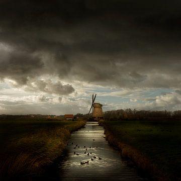 Bosmolen in Egmond - Niederländische Meister von Keesnan Dogger Fotografie