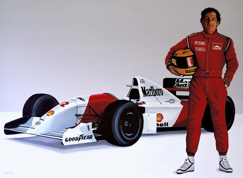 Ayrton Senna schilderij