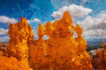 Bryce Canyon, digitaal schilderij, VS van Rietje Bulthuis