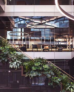 Architektonische Details Pflanzen und Treppenhaus von Jonai