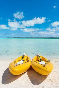 Kajakken in het paradijs, Aitutaki van Laura Vink