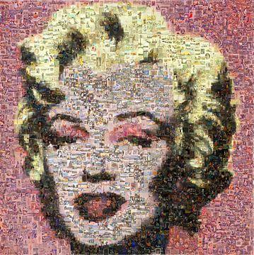 Mosaik Marilyn Mondore nach Andy Warhol von Atelier Liesjes