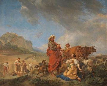 Ruth und Boas, Nicolaes Pietersz. Berchem