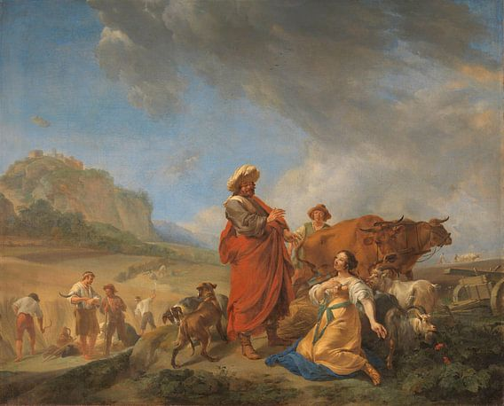 Ruth en Boas, Nicolaes Pietersz. Berchem