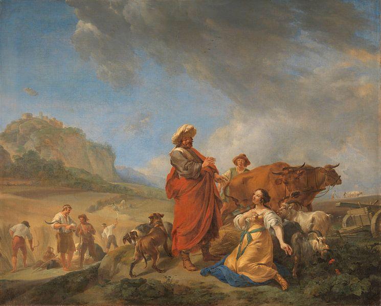 Ruth en Boas, Nicolaes Pietersz. Berchem van Meesterlijcke Meesters