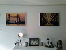 Klantfoto: De Passage, Rotterdam van Vintage Afbeeldingen, op canvas