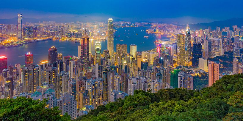 Hong Kong by Night - Victoria Peak - 1 van Tux Photography