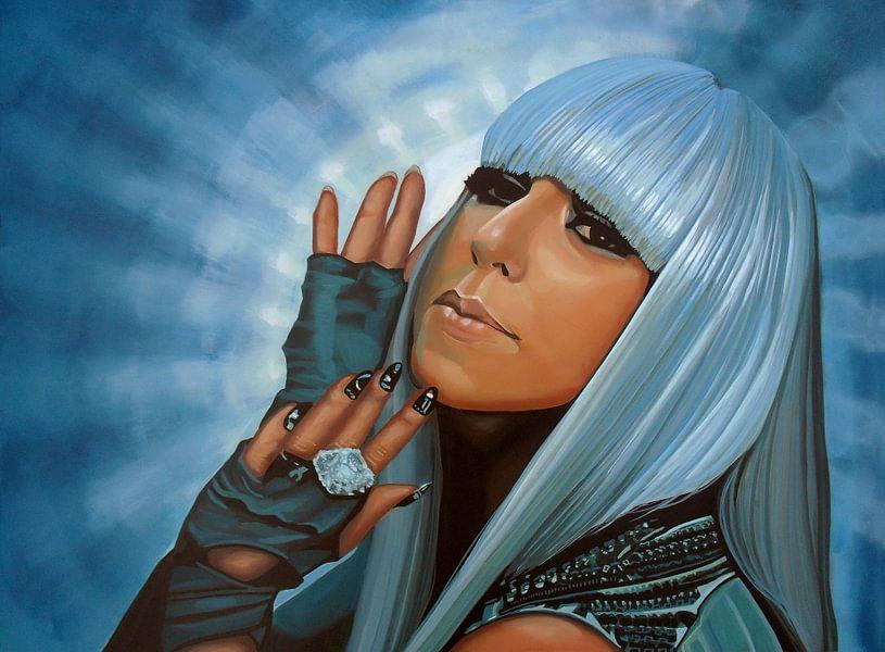 Lady Gaga Schilderij van Paul Meijering