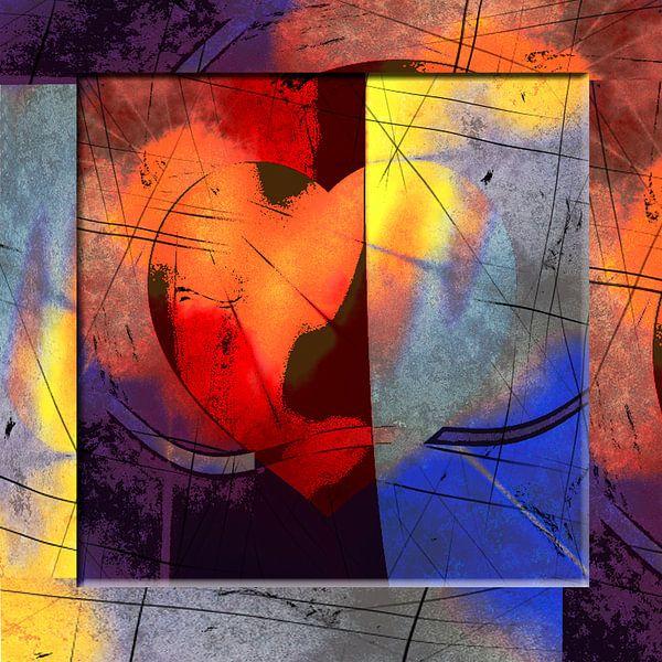 Heart abstract red van Rosi Lorz