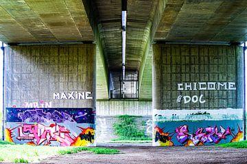 Grafitti onder de Ijsselbrug van Annemarie Veldman
