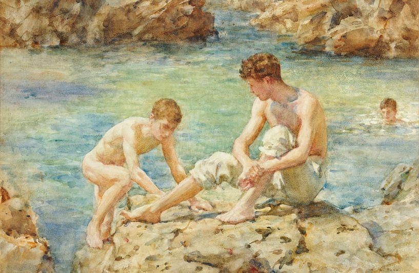 Die Badenden, Henry Scott Tuke von Bridgeman Masters