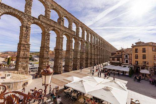 Aquaduct in Segovia (Spanje) van