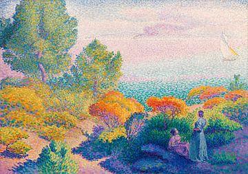 Deux femmes au bord de la mer, Méditerranée, Henri-Edmond Cross