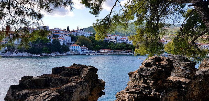 Haven eiland Skiathos in Griekenland van Paul Franke