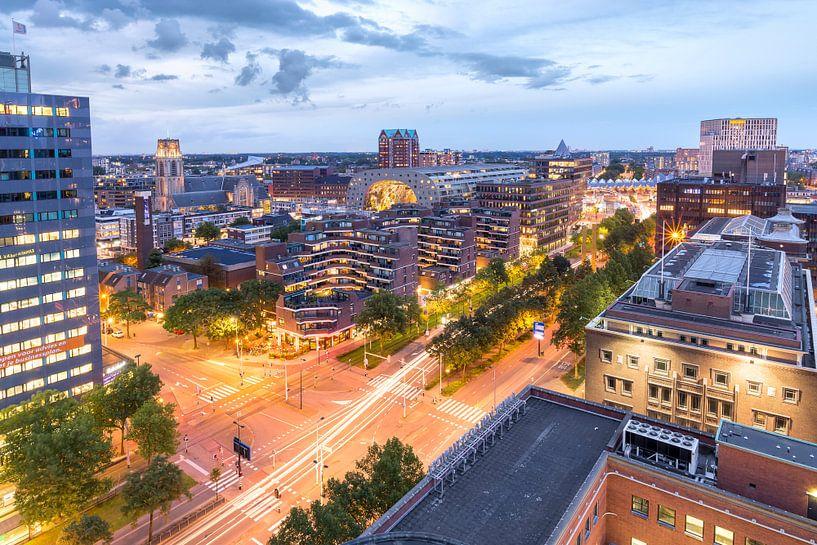 Uitzicht Markthal Blaak Rotterdam van Prachtig Rotterdam