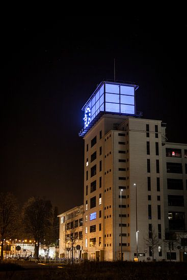 Nachtfoto van Klokgebouw