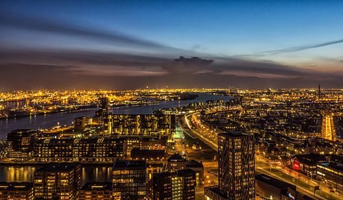 A view from the Euromast in the Blue Hour