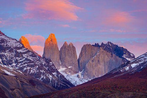 Berglandschap bij zonsopkomst