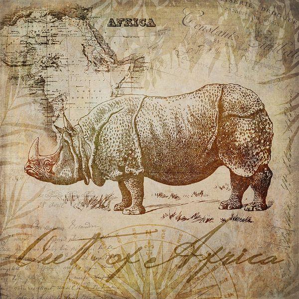 Vintage Rhino van Andrea Haase