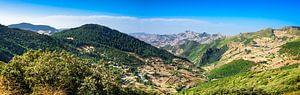 Uitzicht op de bergen van het Rif, Marokko