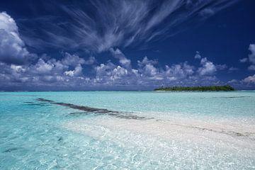 Honeymoon Island, Aitutaki -Cook Islands van Van Oostrum Photography