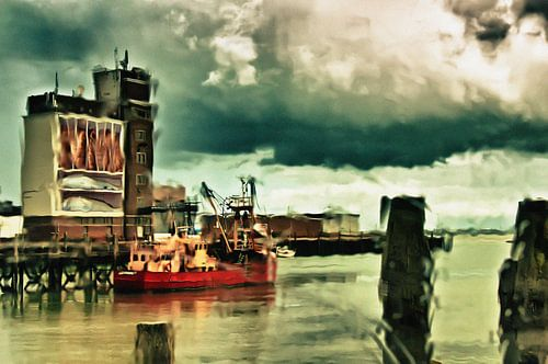 Vissershaven Breskens / Zeeland van Ellen Driesse